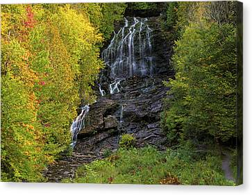 Canvas Print featuring the photograph Colebrook Nh Beaver Brook Falls by Juergen Roth