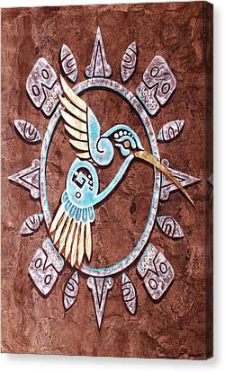 Canvas Print featuring the painting Colibri by J- J- Espinoza