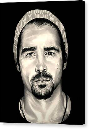 Colin Farrell  Total Recall Canvas Print by Fred Larucci