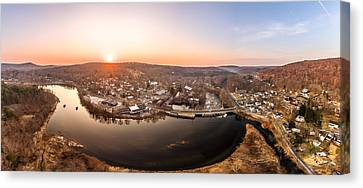 Colinsville, Connecticut Sunrise Panorama Canvas Print