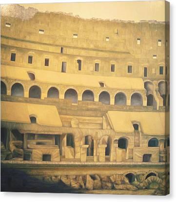 Coliseum Floor Canvas Print