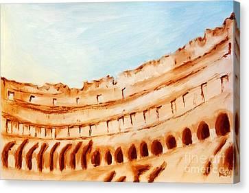 Coliseum, Rome, Italy Canvas Print