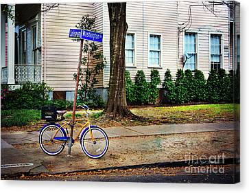 Canvas Print featuring the photograph Coliseum-washington Bicycle by Craig J Satterlee