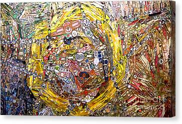 Collage Abstract Canvas Print by Mindy Newman