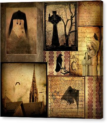 Collage Of Gothic Old  Canvas Print by Gothicrow Images