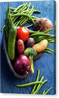 Collection Of Vegetables Still Life Canvas Print