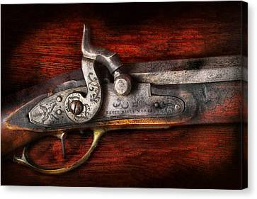 Collector - Gun - Rifle Works  Canvas Print by Mike Savad