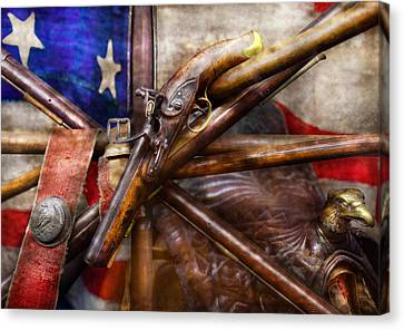 Collector - Guns - How The War Was Won  Canvas Print by Mike Savad