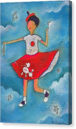 Colleen Dancing In Clouds Canvas Print by Ricky Sencion