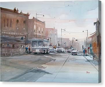 College Avenue - Appleton Canvas Print by Ryan Radke
