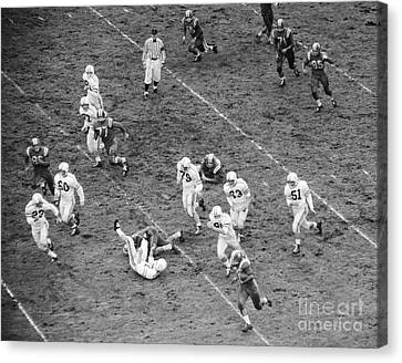 College Football Game From Above Canvas Print by H. Armstrong Roberts/ClassicStock