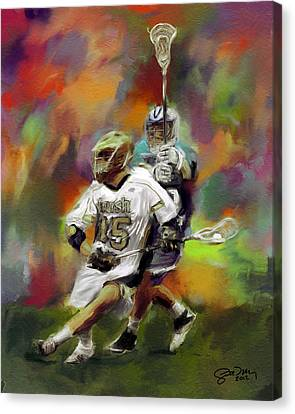 College Lacrosse 13 Canvas Print by Scott Melby