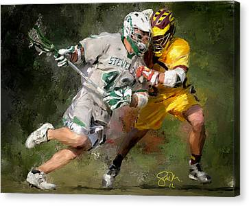 College Lacrosse 8 Canvas Print by Scott Melby