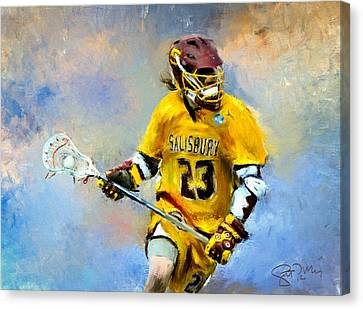 College Lacrosse 9 Canvas Print by Scott Melby