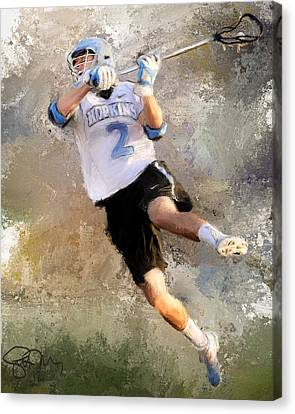 College Lacrosse Shot 2 Canvas Print by Scott Melby