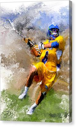 College Lacrosse Shot Canvas Print by Scott Melby