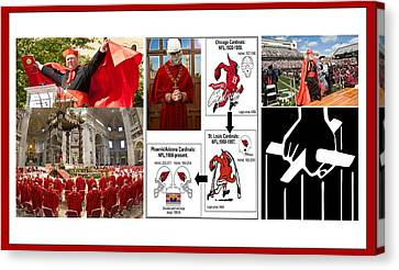 College Of Cardinals Canvas Print by Peter Hedding