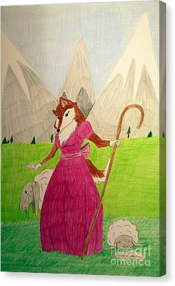 Collie Bo Peep Canvas Print by Wendy Coulson
