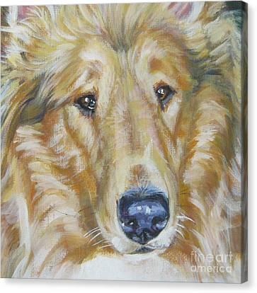 Collie Close Up Canvas Print by Lee Ann Shepard