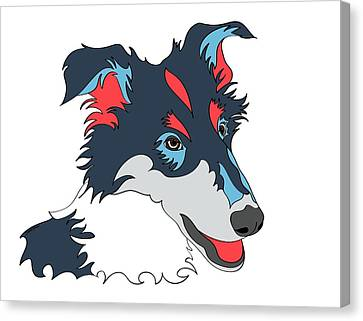 Collie Graphic Art - Dog Art - Wpap Canvas Print by SharaLee Art