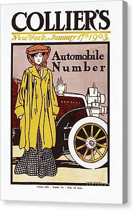 Collier Automobile Number 1903 Canvas Print by Heidi De Leeuw