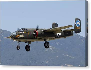 Collings Foundation North American B-25j Mitchell Tondelayo Canvas Print by Brian Lockett
