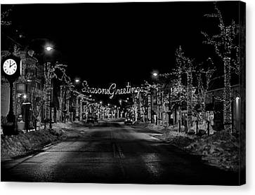 Collingswood Christmas Canvas Print by Shawn Colborn