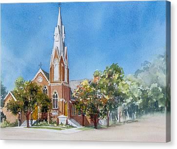 Collingwood-church Canvas Print by Nancy Newman