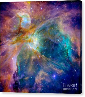 Collision Of Color Canvas Print by Jon Neidert