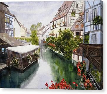 Colmar Canal Canvas Print