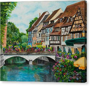 Colmar In Full Bloom Canvas Print by Charlotte Blanchard