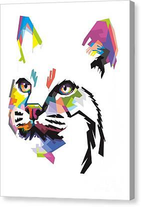 Coloful Bobcat Canvas Print
