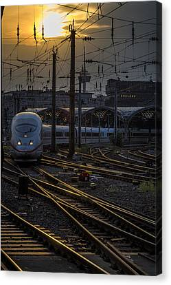 Bahn Canvas Print - Cologne Central Station by Pablo Lopez