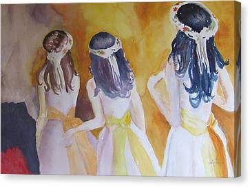 Colombian Wedding Party Two Canvas Print