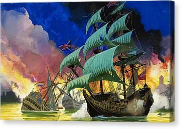 Water Vessels Canvas Print - Colonel Robert Blake  by Severino Baraldi