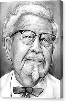 Icon Canvas Print - Colonel Sanders by Greg Joens