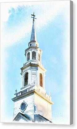 Colonial Church Concord Canvas Print by Edward Fielding