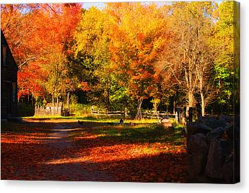 Colonial Fall Colors Canvas Print by Jeff Folger