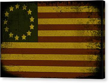 Colonial Flag Canvas Print by Bill Cannon