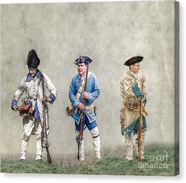 Colonial French Soldier Review Canvas Print by Randy Steele