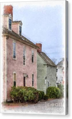 Historic House Canvas Print - Colonial Houses Of Portsmouth New Hampshire by Edward Fielding