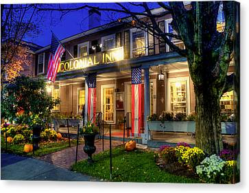 Colonial Inn Concord Ma -historic Sites Canvas Print by Joann Vitali