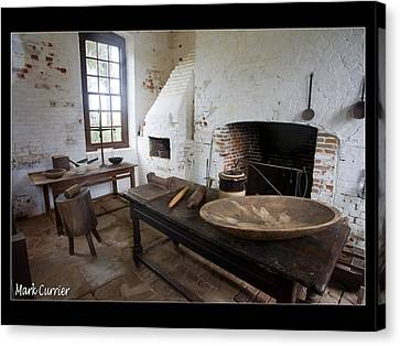 Colonial Kitchen Canvas Print by Mark Currier