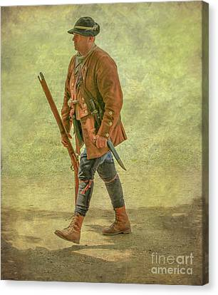 Colonial Militia Scout Two Canvas Print by Randy Steele