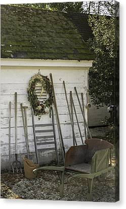 Colonial Nursery Potting Shed Canvas Print by Teresa Mucha