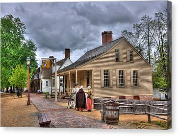 Colonial Man Canvas Print - Colonial Williamsburg 5 by Todd Hostetter