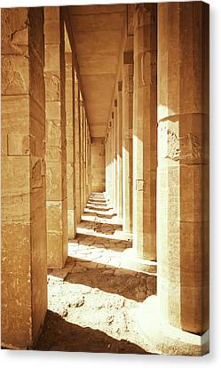 Hatchepsut Canvas Print - Colonnade At The Temple Of Queen Hatshepsut In Egypt by Jaroslav Frank