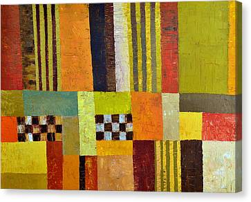 Color And Pattern Abstract Canvas Print by Michelle Calkins
