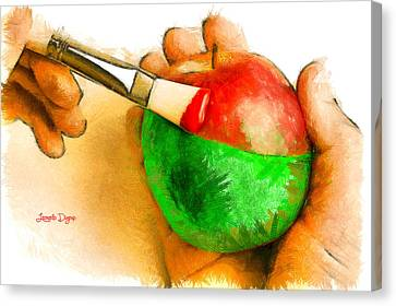 Eat Canvas Print - Color Apple by Leonardo Digenio