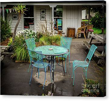 Canvas Print featuring the photograph Color At Cafe by Perry Webster